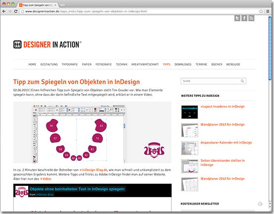 Tipp&Trick Veröffentlichung auf DesignerInAction.de