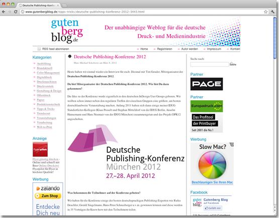 Interview auf dem gutenbergblog.de