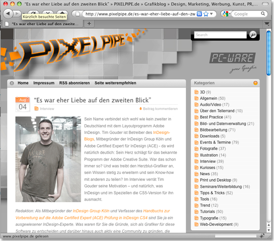 Interview auf pixelpipe.de