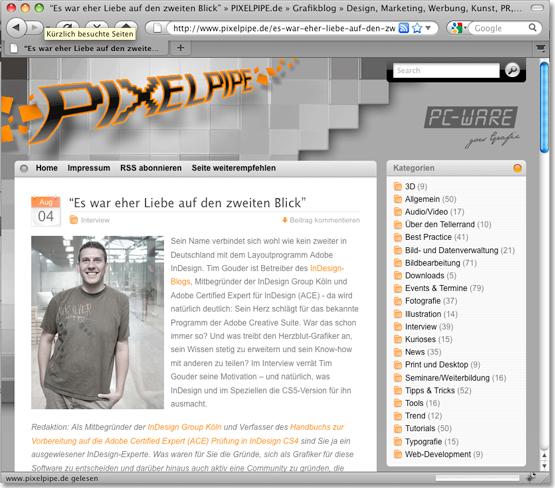 Interview auf pixelpipe.de