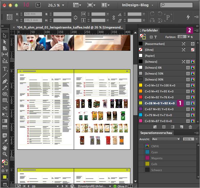 Screenshot –Farbfelder-Palette mit ausgewählter Farbe die gesucht wird