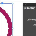 Wellenform bei geänderter Linienstärke beibehalten in InDesign