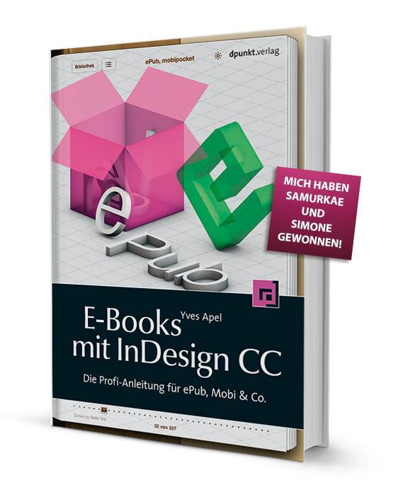 "Foto – Buch ""E-Books mit InDesign CC - Die Profi-Anleitung für ePub, Mobi & Co."""