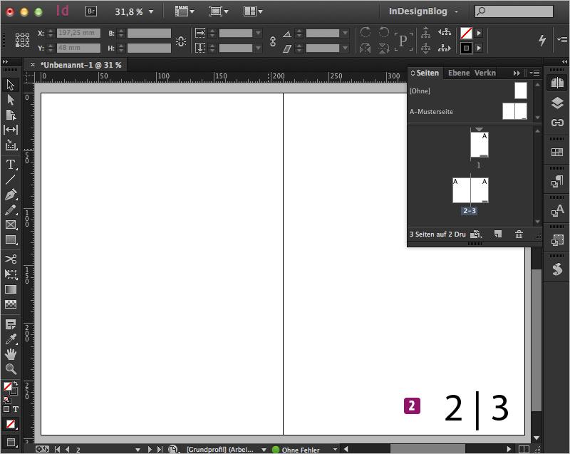 Screenshot – Ansicht der aktuelle Seitenzahl auf nur einer Seite