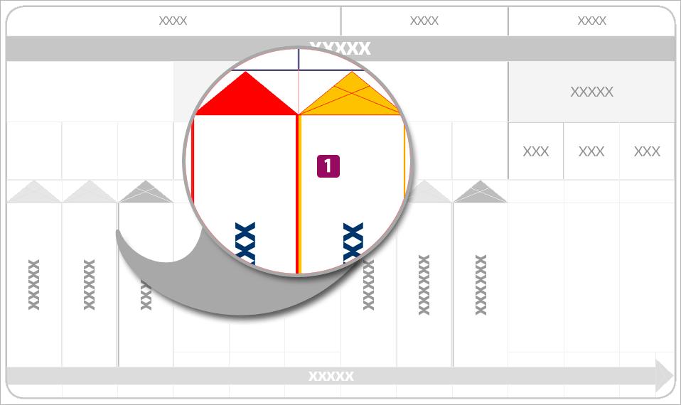 Screenshot – Ansicht einer Tabellenzelle mit doppelter Kontur