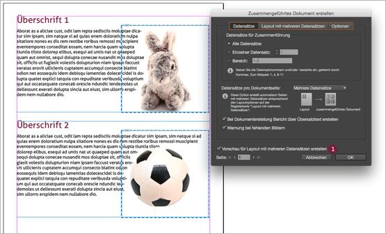 """Screenshot – """"Zusammengeführtes Dokument erstellen"""" Dialog-Fenster"""