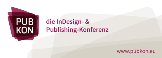 Banner PUBKON 2015 die InDesign- & Publishing-Konferenz
