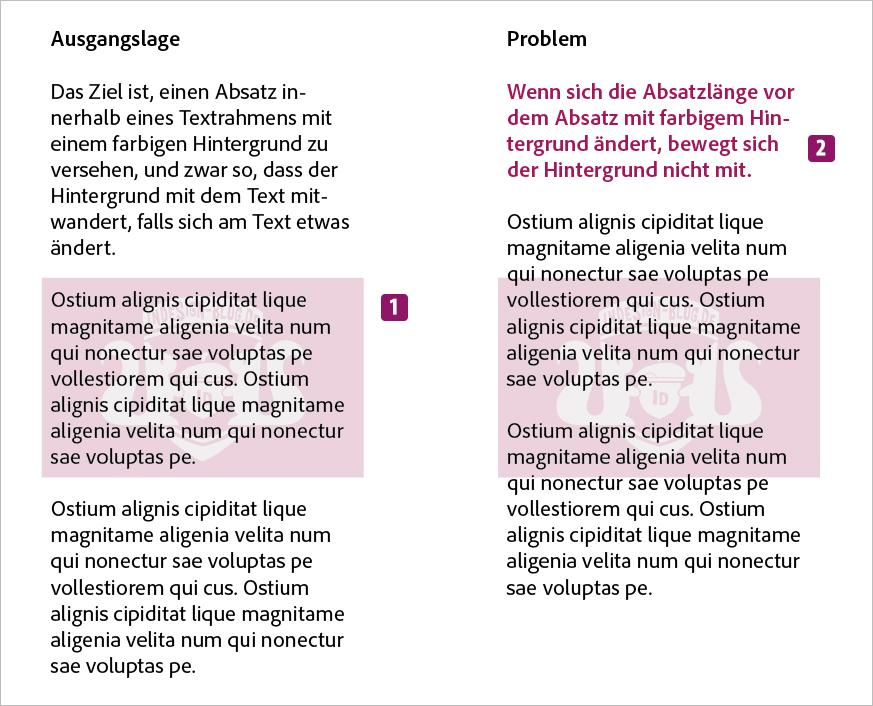 Screenshot – Ausgangslage und Problem