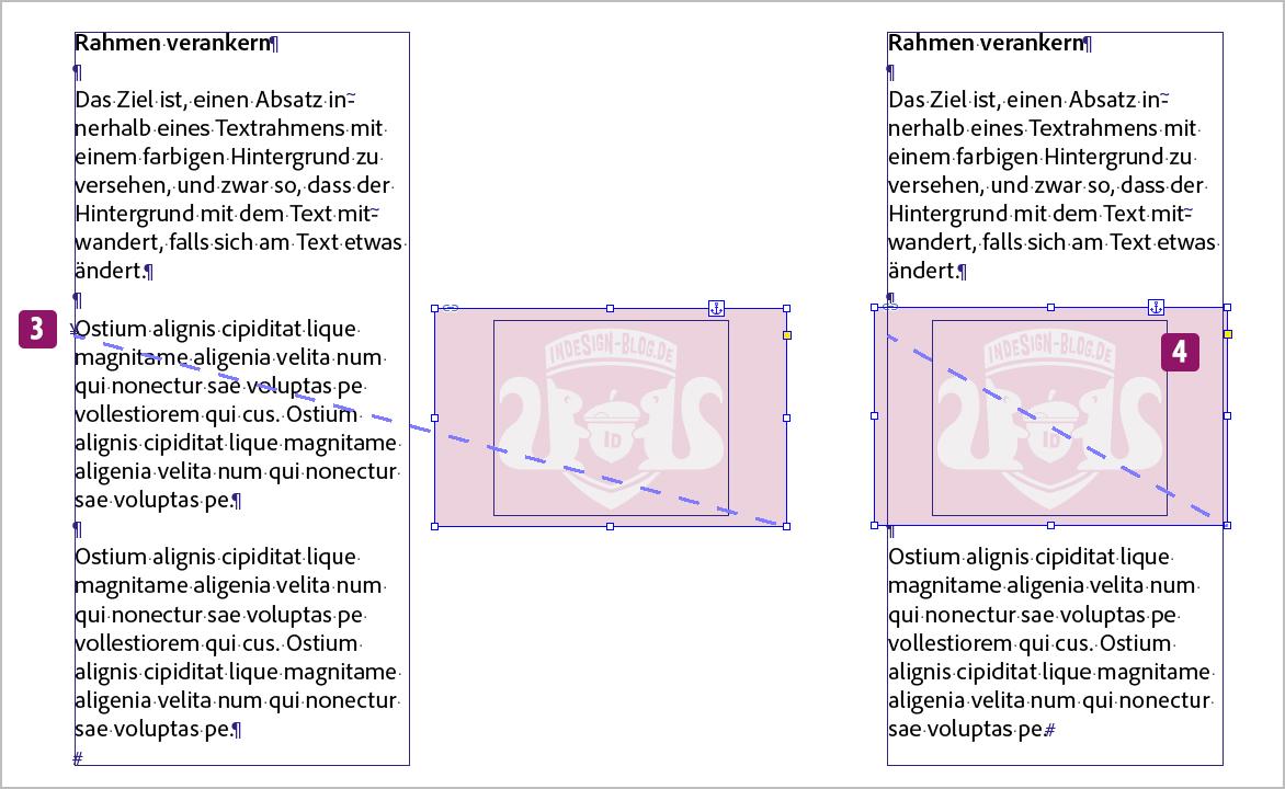 Screenshot –Erste Idee, Hintergrundobjekt verankern