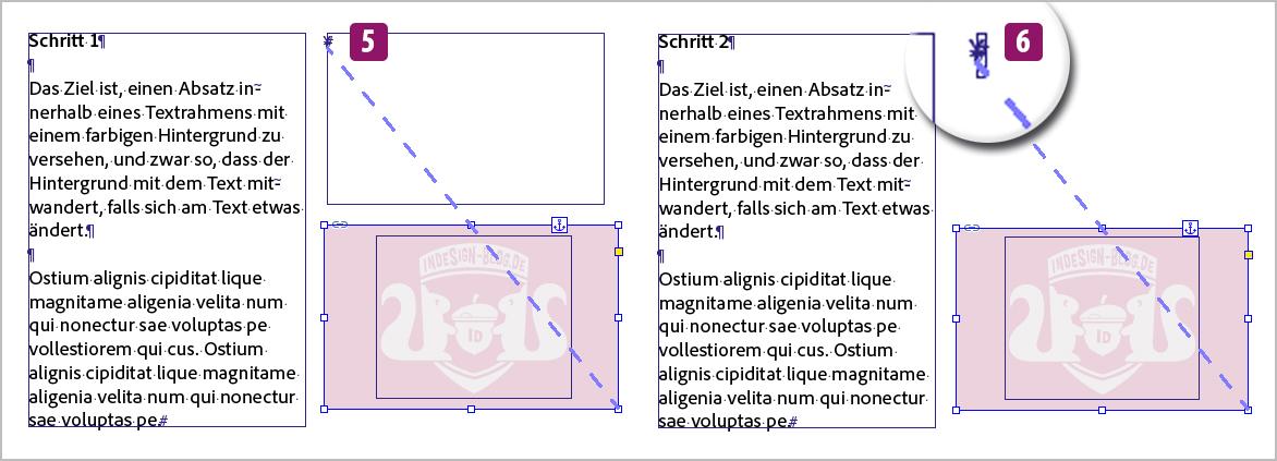 Screenshot –Lösung, Schritt 1 und 2