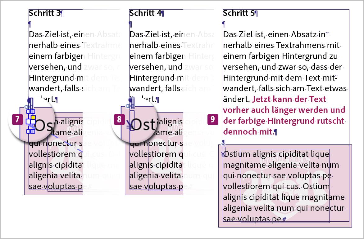 Screenshot –Lösung, Schritt 3, 4 und 5