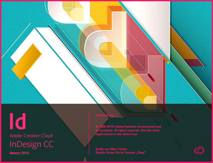 Screenshot – Startscreen InDesign CC 2015