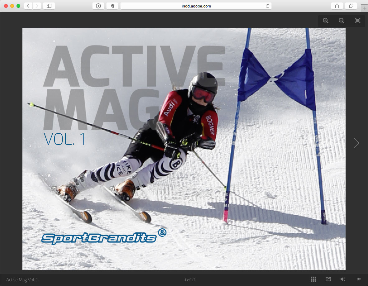 Screenshot – Active Mag Vol.1 - SportBrandits – Online Publishing