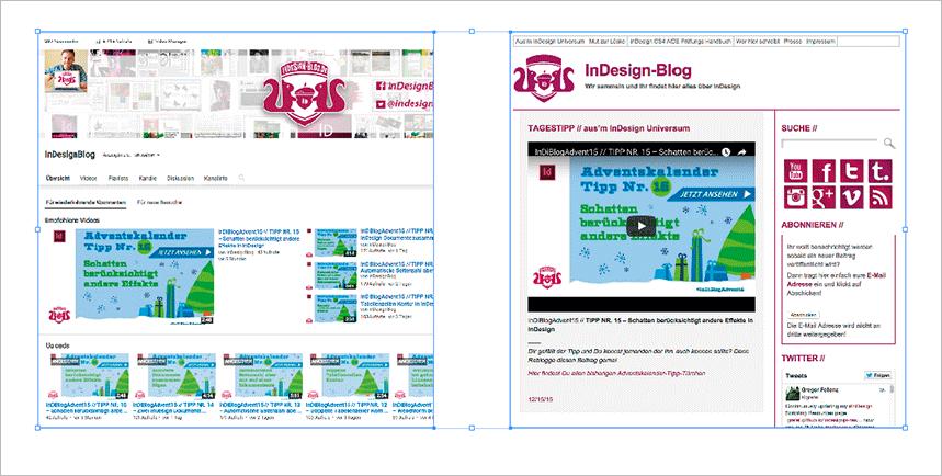 Screenshot – Bild-Rahmen auswahl