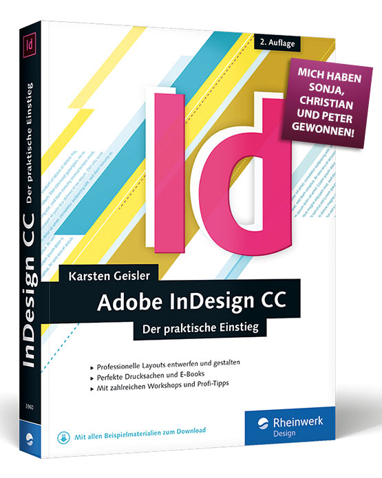 """Foto – Buch """"Adobe InDesign CC – Der praktische Einstieg"""""""