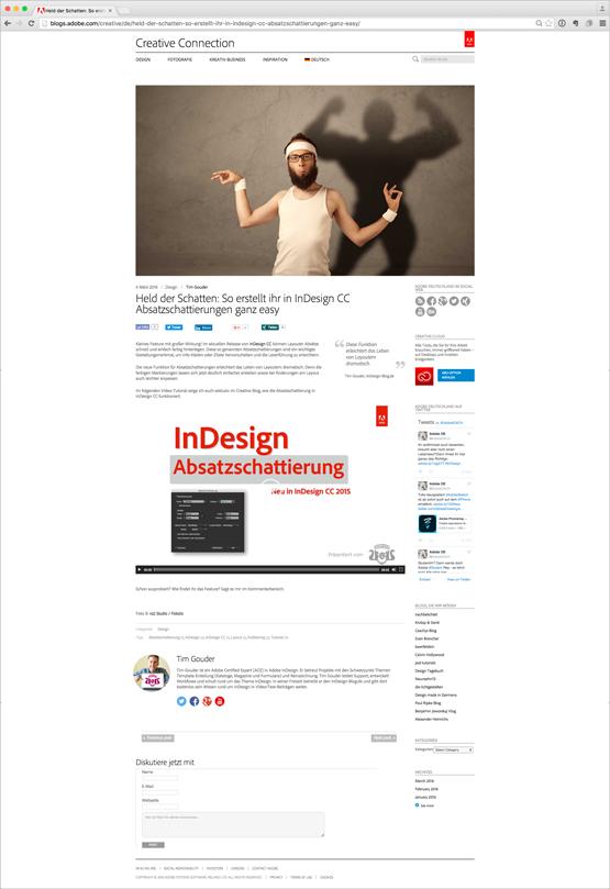 """Screenshot – Adobe Creative Connection Blog Beitrag """"Absatzschattierung"""""""