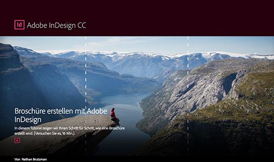 Screenshot – Broschüre erstellen mit Adobe InDesign