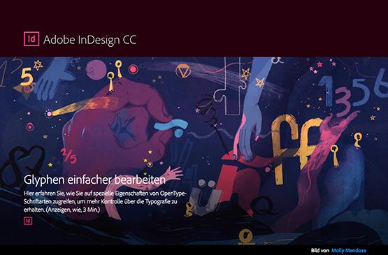 Screenshot – Glyphen einfacher bearbeiten in InDesign CC 2015