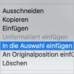 In die Auswahl einfügen in InDesign // QUICK-TIPP