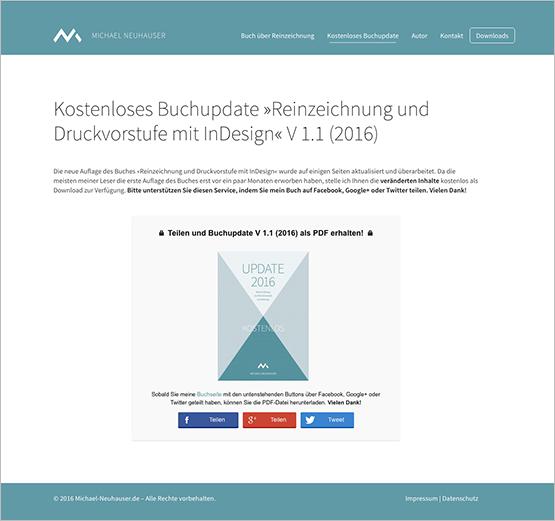 Screenshot – »Reinzeichnung und Druckvorstufe mit InDesign« V 1.1 (2016)