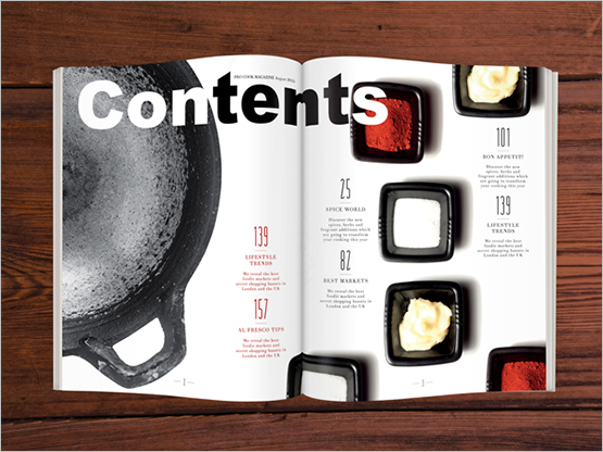 Screenshot – Lay out Contents Page
