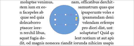Screenshot –Textblock wird verdrängt von Textumfluss