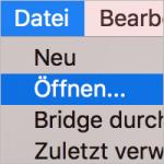 Datei öffnen in InDesign