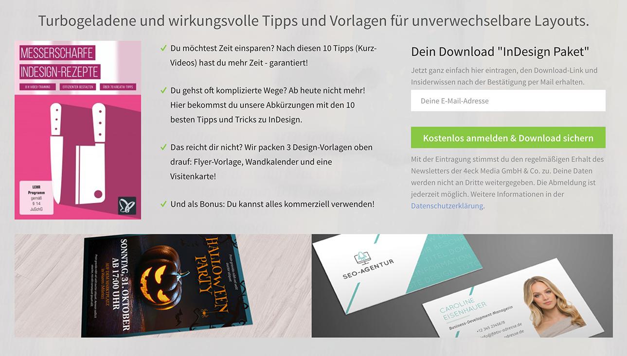 [DE] Gratis-Download für Adobe InDesign: 10 geniale Tipps und Tricks + 3 Flyer-Vorlagen