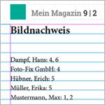 Bildnachweis-Verzeichnisse per Index in InDesign erstellen