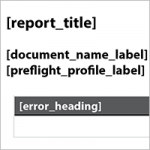 Das Preflight Template in InDesign
