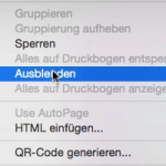 Objekte ausblenden in InDesign