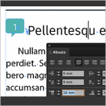 Abstand davor in InDesign – Teil2