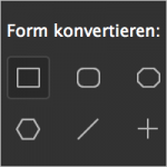 Form konvertieren in InDesign