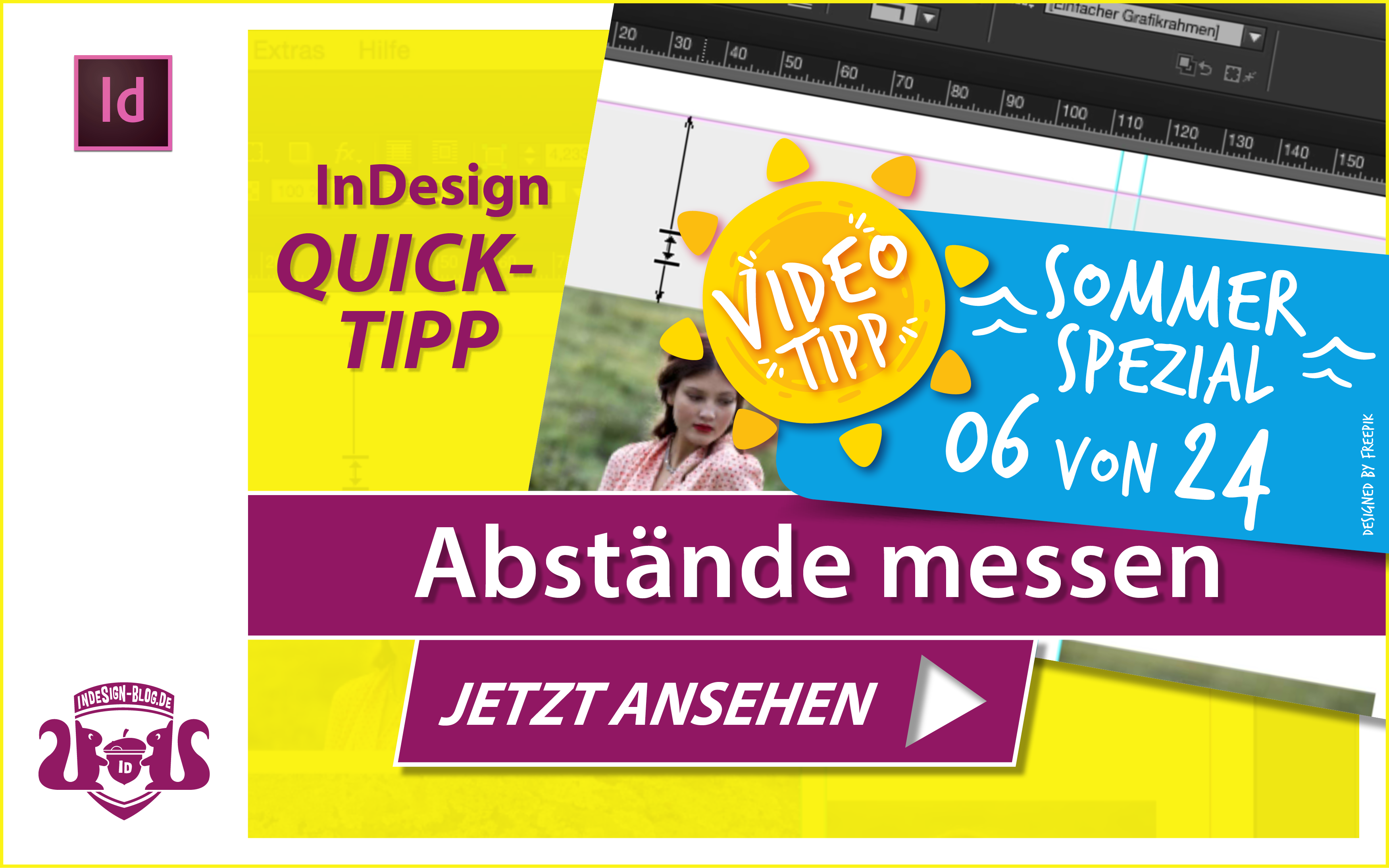 Screenshot – Video Abstände messen in InDesign
