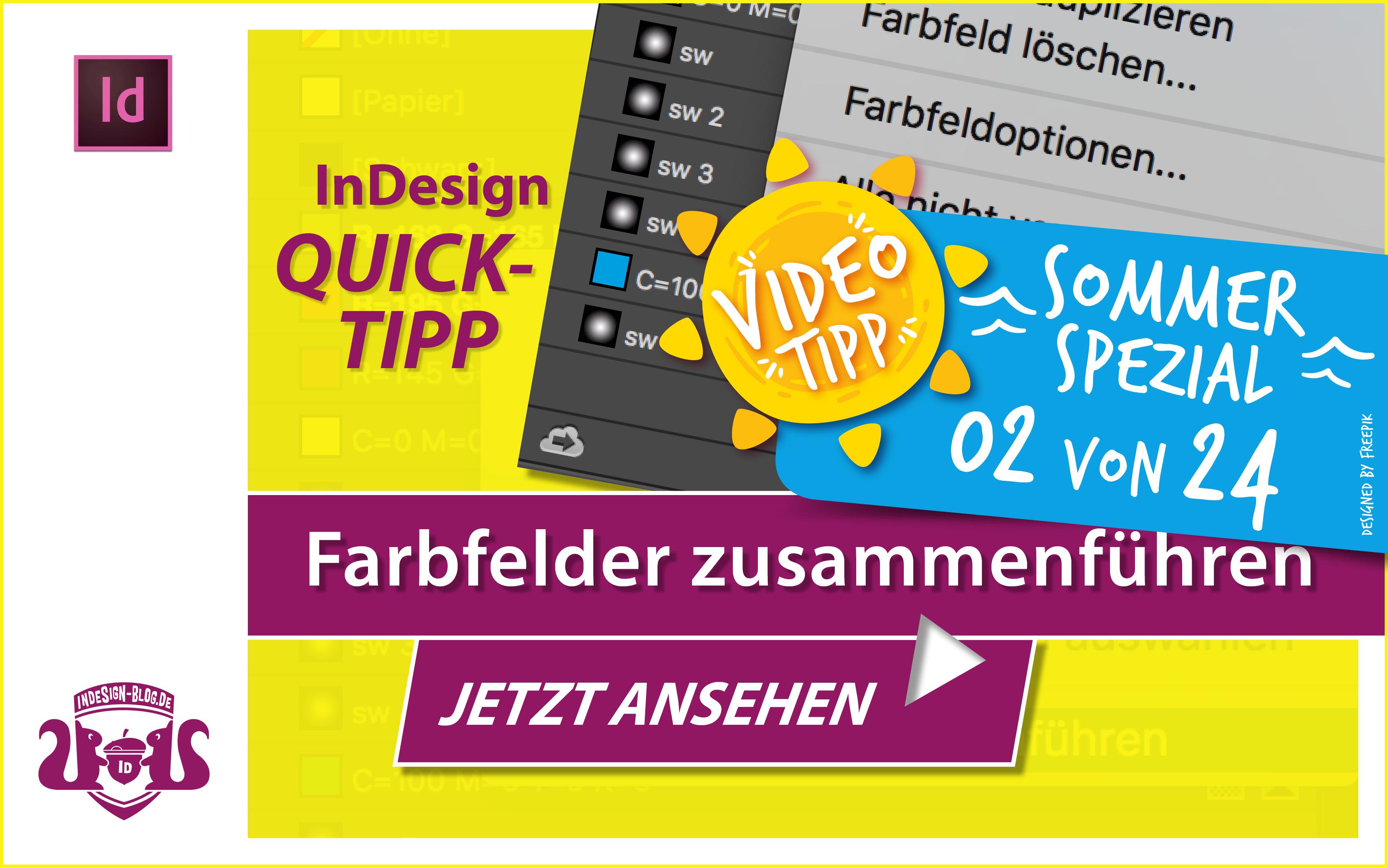 Screenshot – Video InDesign Farbfelder zusammenführen