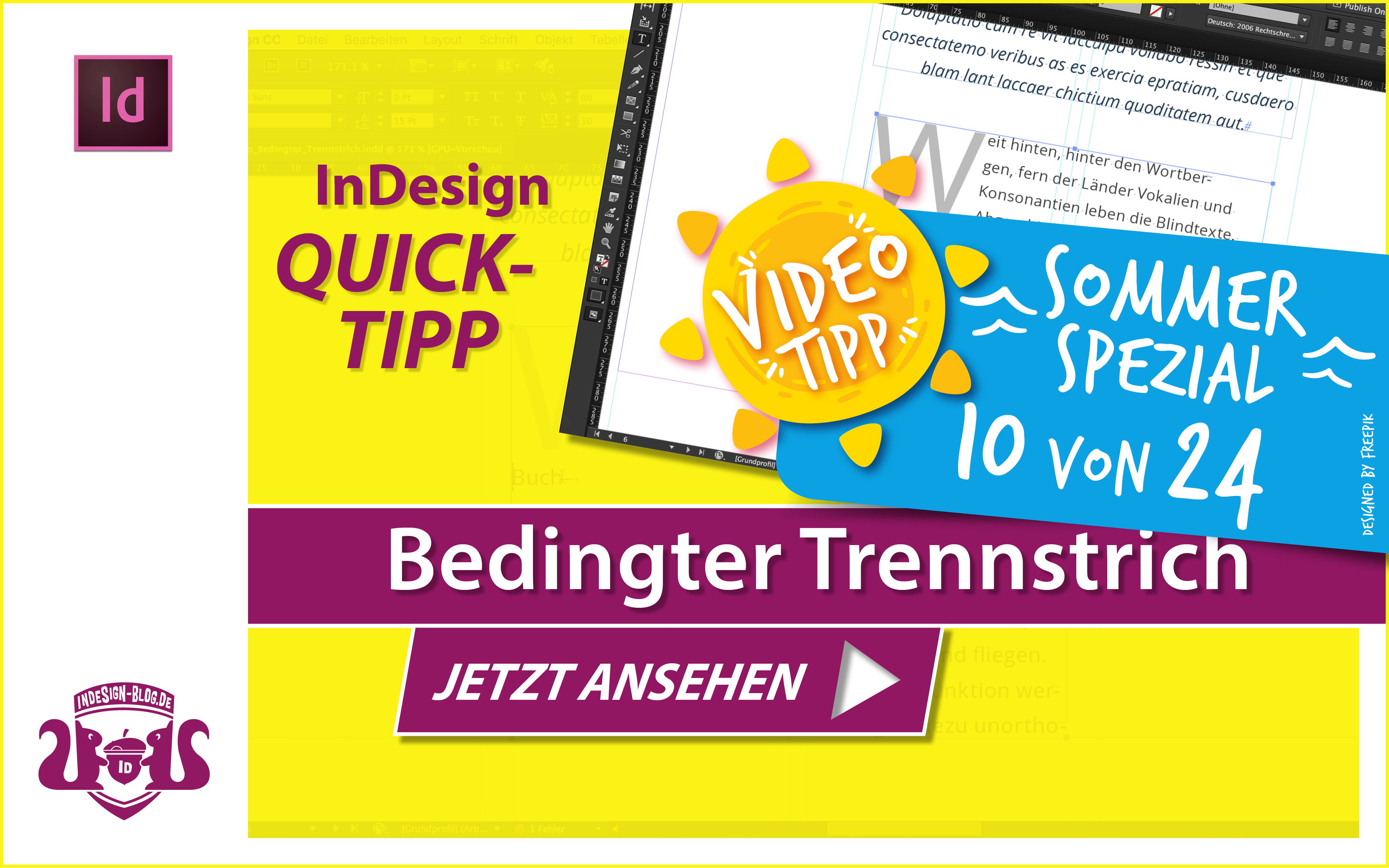 Screenshot – Video Bedingter Trennstrich