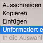 Text unformatiert einfügen in InDesign
