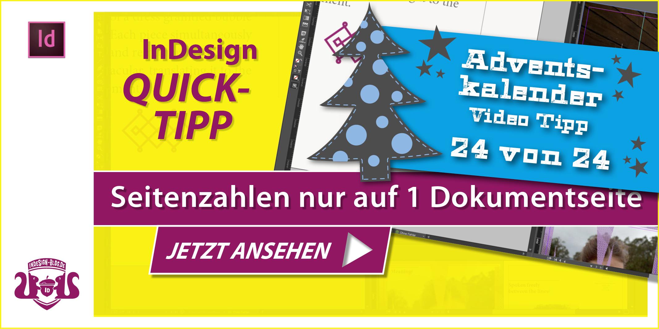 Thumbnail Quicktipp Automatische Seitenzahlen aber nur auf einer Dokumentseite