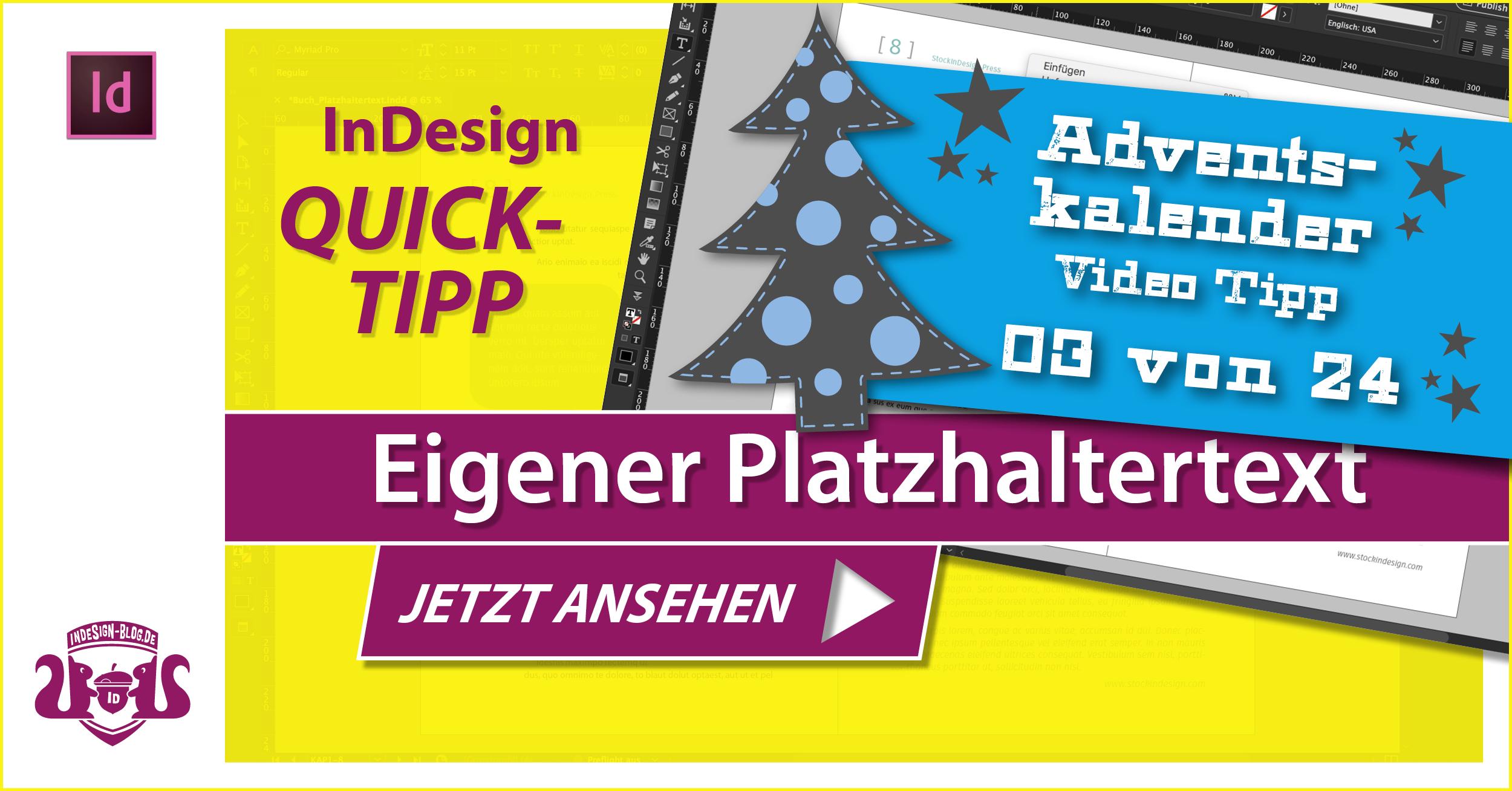 Thumbnail – Adventskalender Tipp Nr. 3 – Eigenen Platzhaltertext verwenden