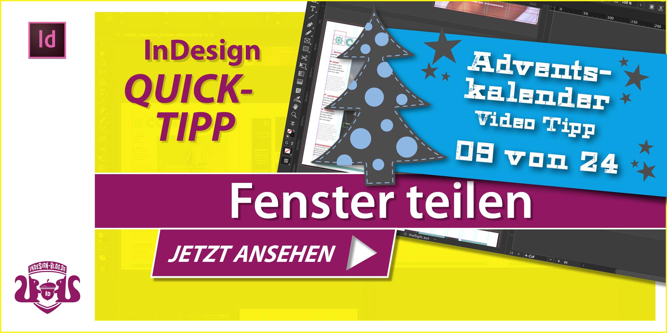 Thumbnail Quicktipp Fenster teilen in InDesign