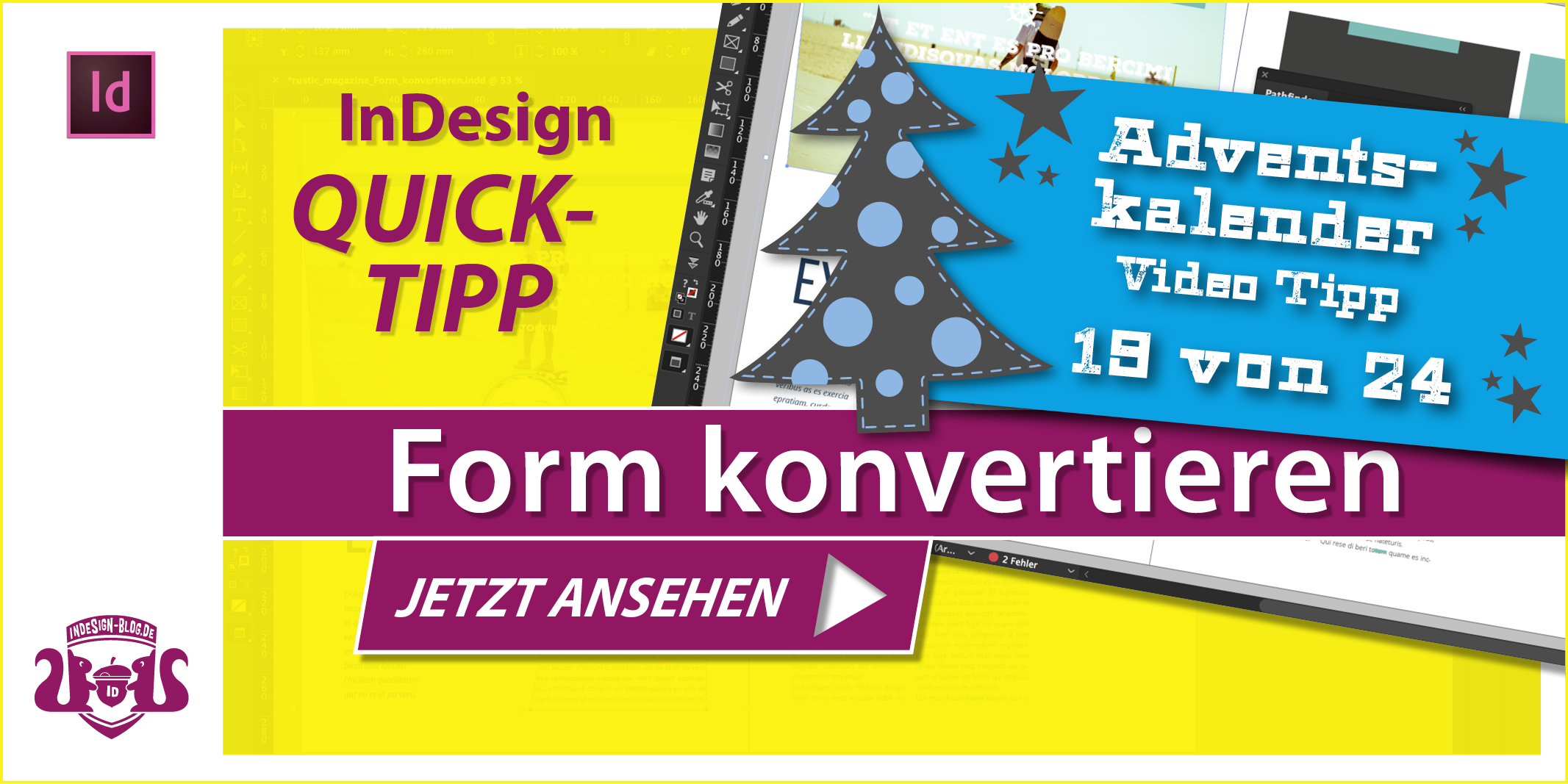 Thumbnail Quicktipp Form konvertieren in InDesign