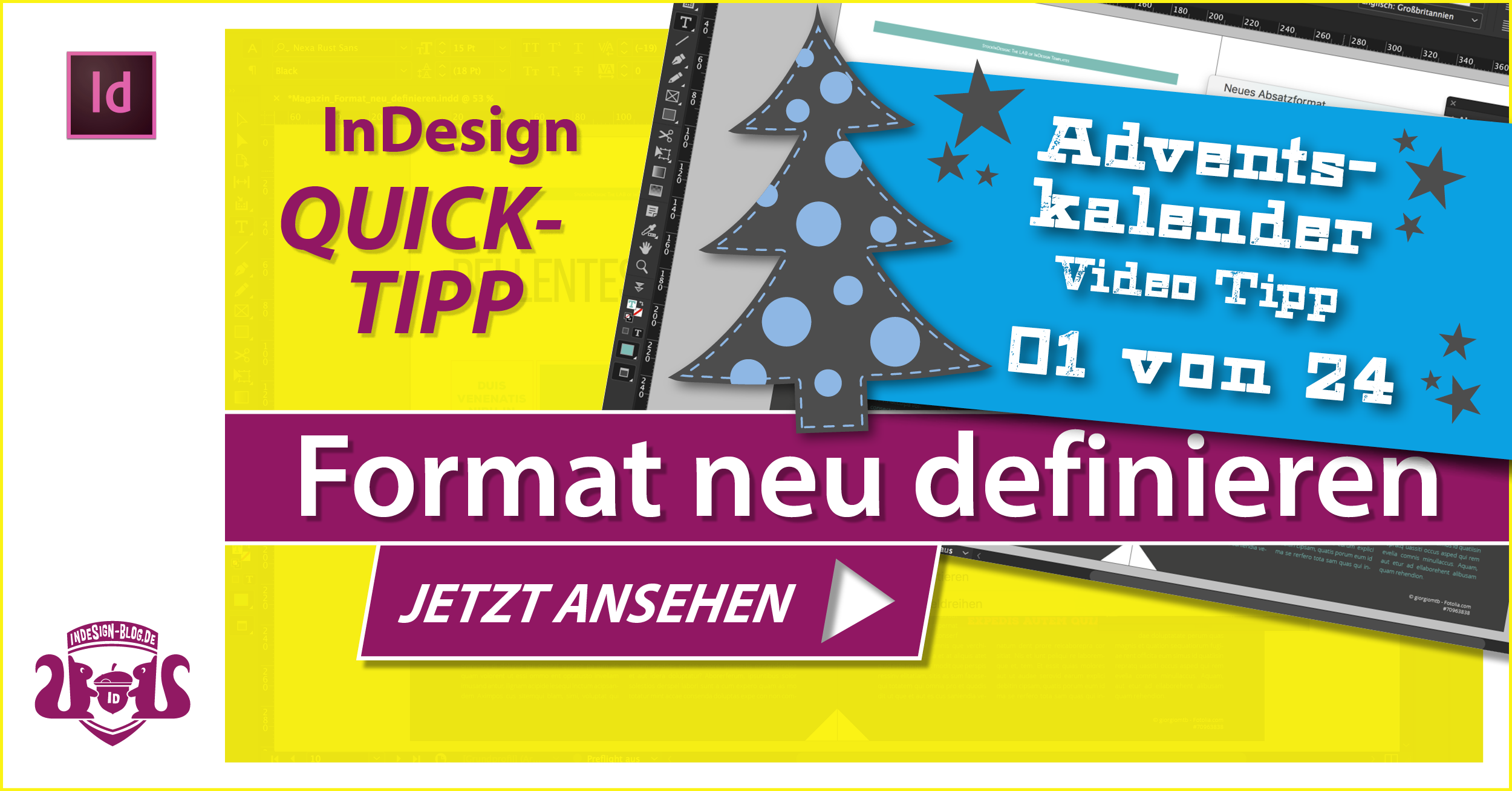 Thumbnail – Adventskalender Tipp Nr. 1 – Format neu definieren in InDesign