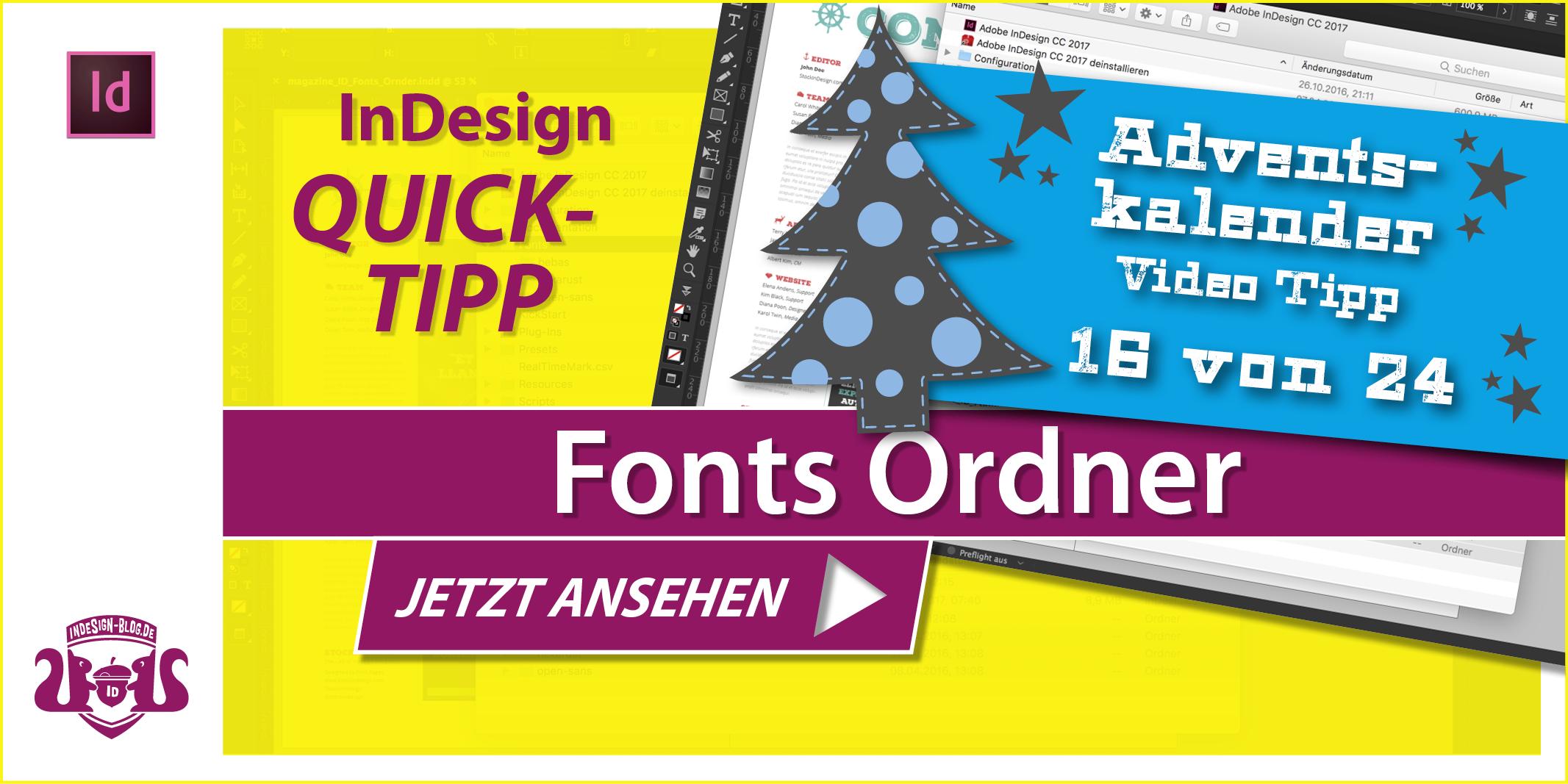 Thumbnail Quicktipp InDesign eigener Fonts Ordner