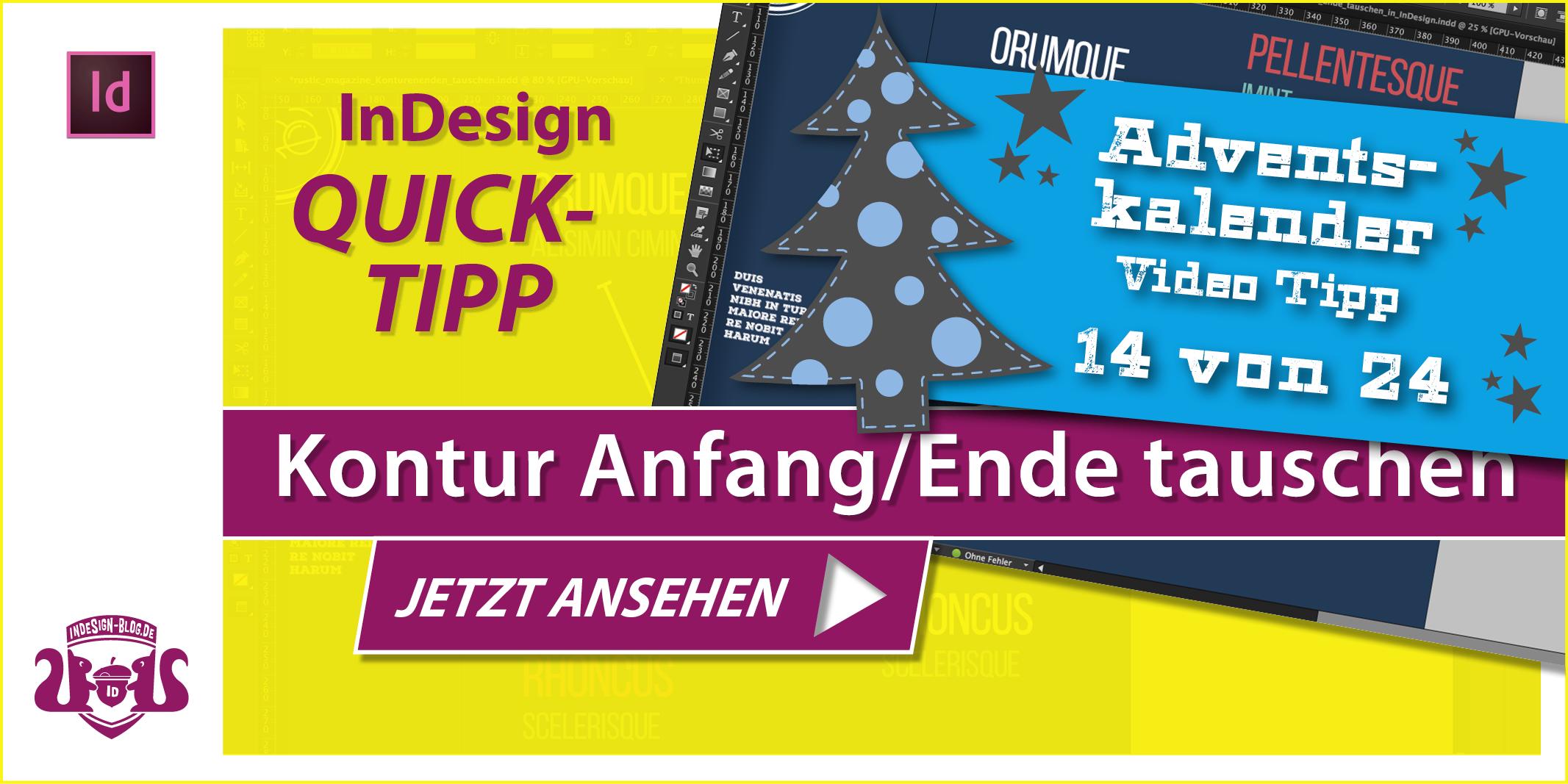 Thumbnail Quicktipp Konturen Anfang und Ende tauschen in InDesign