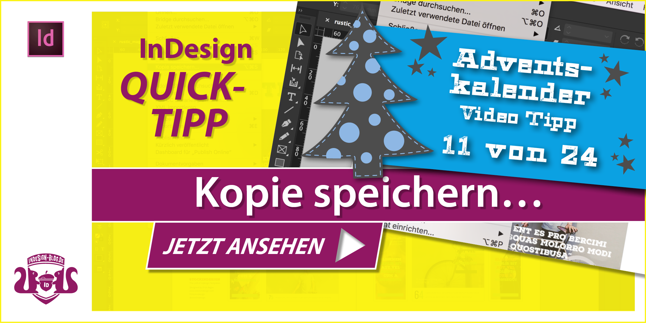 Thumbnail Quicktipp Kopie speichern in InDesign