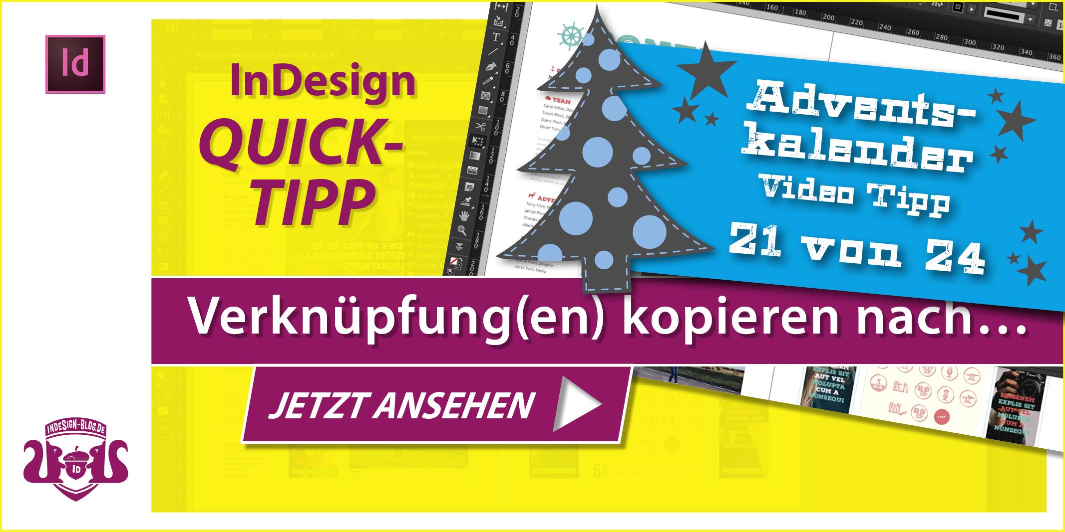 Thumbnail Quicktipp Verknüpfungen kopieren nach in InDesign