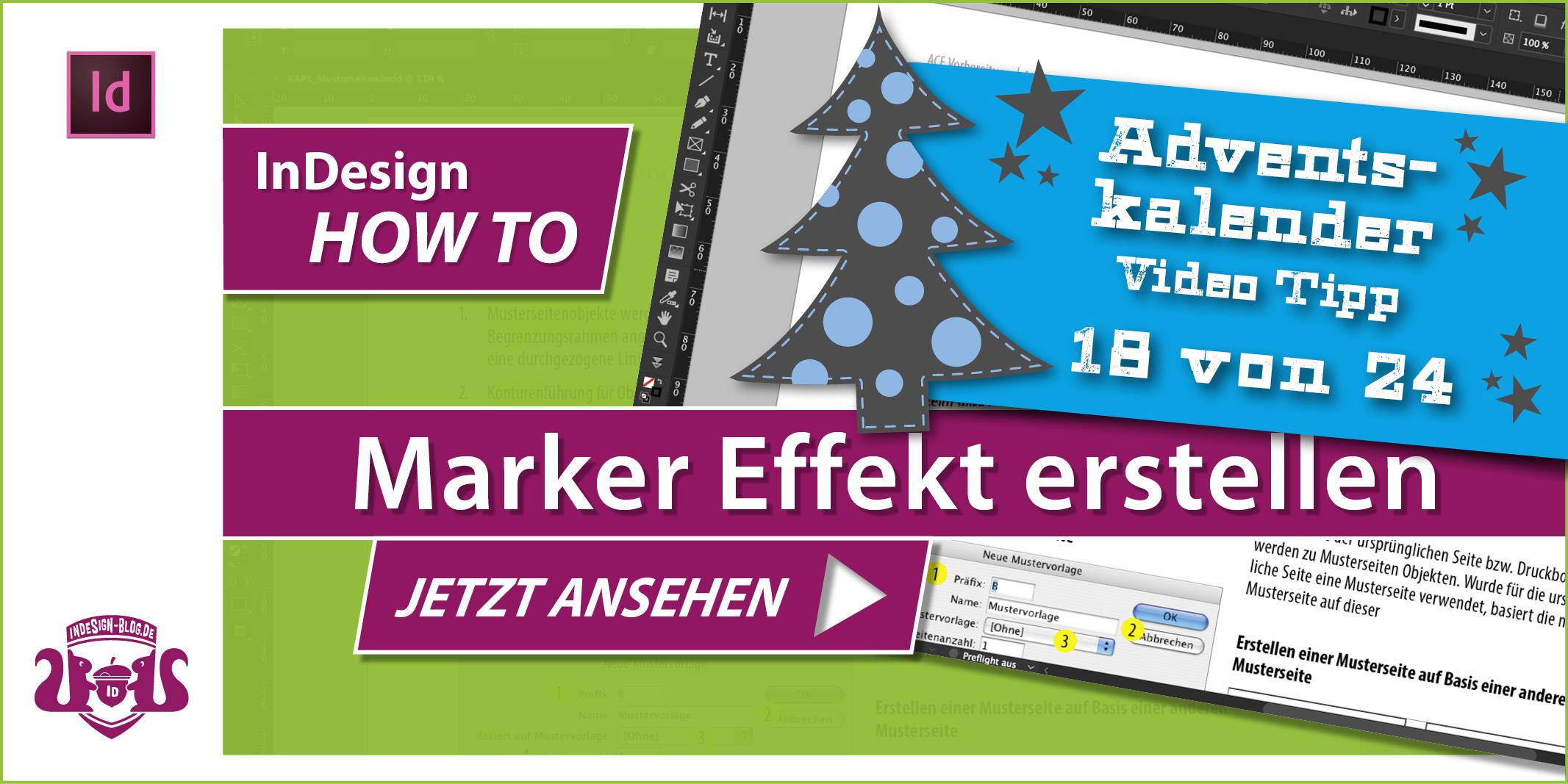 Tumbnail Marker Effekt erstellen in InDesign