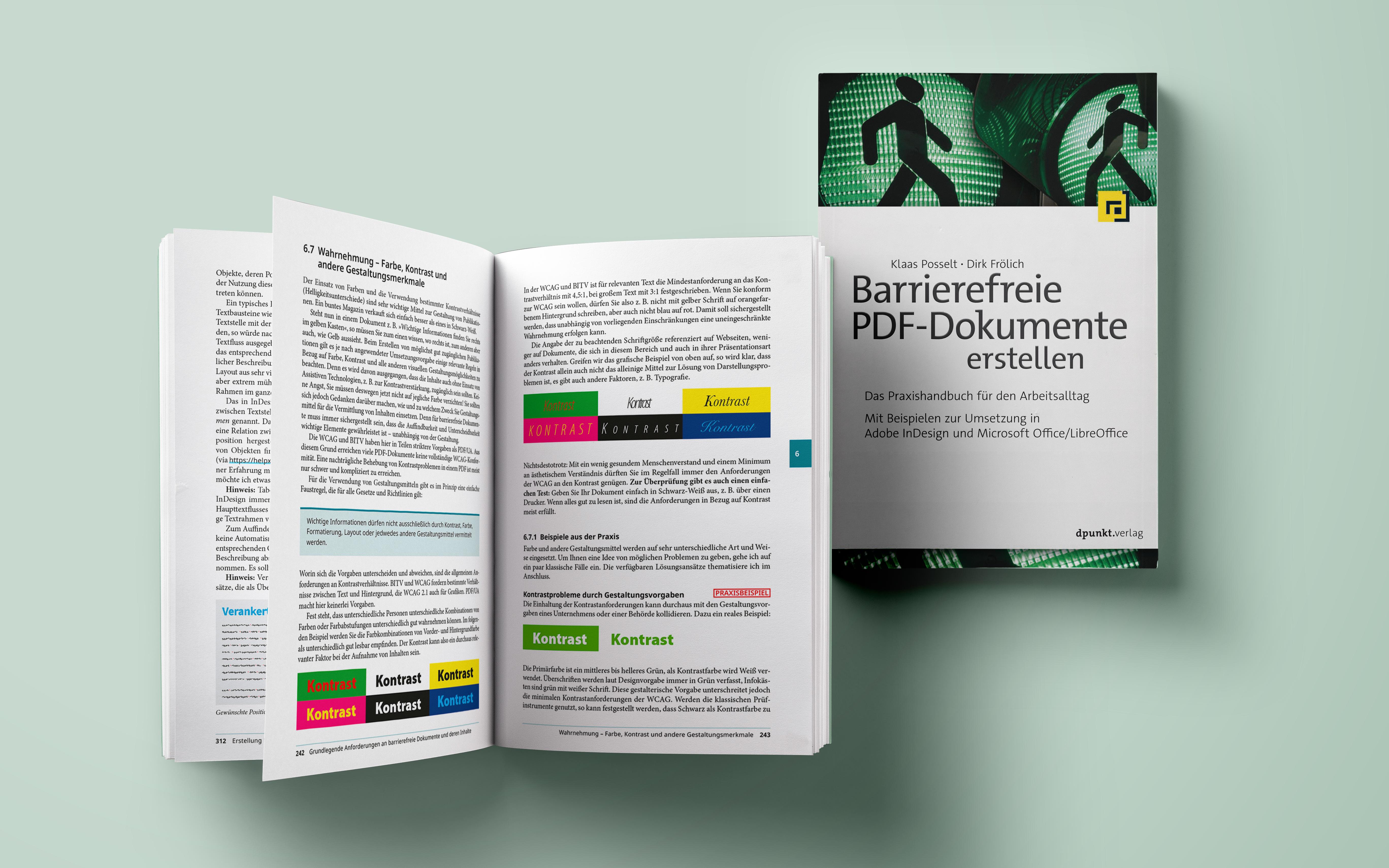Buch: Barrierefreie PDF-Dokumente erstellen von Klaas Posselt